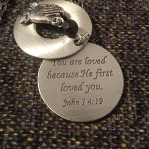 John 14:19 Hand Stamped Verse Necklace